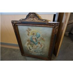VINTAGE PAINTING OF ANGELS ON CANVAS