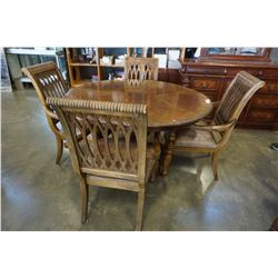 LARGE ROUND DINING TABLE W/ 4 CHAIRS