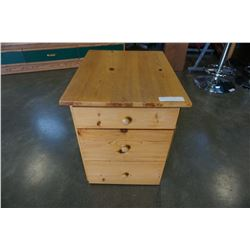 3 DRAWER PINE NIGHTSTAND