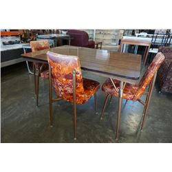 MCM DINING TABLE W/ 3 CHAIRS