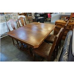 TRESTLE BASE DINING TABLE WITH 4 CHAIRS