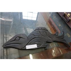 JIM JULES SALMON AND EAGLE CARVING