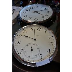 2 LARGE WALL CLOCKS