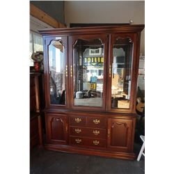 MAHOGANY 2 PIECE CHINA CABINET BY THOMASVILLE