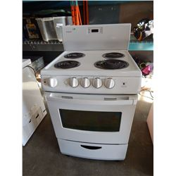 WHITE SIMPLICITY OVEN WITH RANGE - TESTED AND WORKING