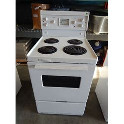 WHITE OVEN WITH RANGE - TESTED AND WORKING