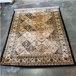 NEW UNIQUE BLACK 5FT 2 INCH X 7 - 1/2 FOOT TURKISH AREA CARPET