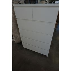 WHITE IKEA HEMNES 6 DRAWER CHEST OF DRAWERS