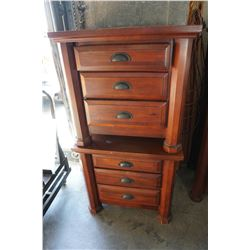 PAIR OF SOLID WOOD 3 DRAWER NIGHTSTANDS