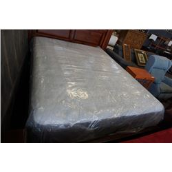 QUEENSIZE STEARNS AND FOSTER EURO PLUSH TOP MEDIUM FIRM MATTRESS, FLOOR MODEL