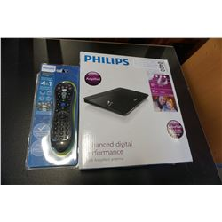 NEW OVERSTOCK PHILIPS 22DB AMPLIFIED HD DIGITAL ANTENNA UP TO 25 MILE TRANSMISSION COVERAGE AND 4 IN