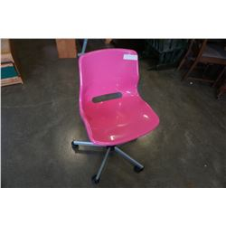 PINK ROLLING OFFICE CHAIR