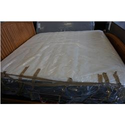 STEARNS AND FOSTER KINGSIZE EURO PLUSH TOP MATTRESS, FLOOR MODEL,