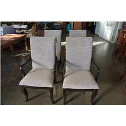 SET OF 4 NEW HOME ELEGANCE MODERN STUDDED DINING CHAIRS, RETAIL $249 EA