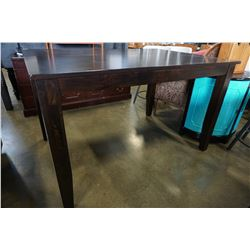 NEW HOME ELEGANCE MAHOGANY FINISH PUB HEIGHT DINING TABLE , RETAIL $799