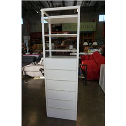 6FT TALL WHITE METAL IKEA STORAGE CABINET
