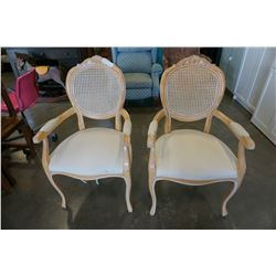 2 OAK FRAMED CAPTAINS CHAIRS