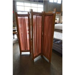PINE AND CLOTH 4 PANEL PRIVACY SCREEN