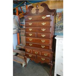KELLER FURNITURE QUEEN ANNE MAHOGANY 2 PIECE 8 DRAWER CHEST OF DRAWERS