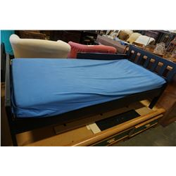 BLACK KIDS BED FRAME WITH MATTRESS
