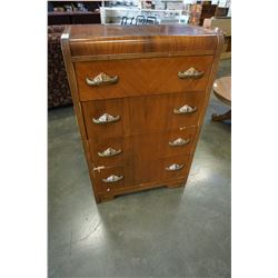 ANTIQUE 4 DRESSER WATERFALL CHEST OF DRAWERS