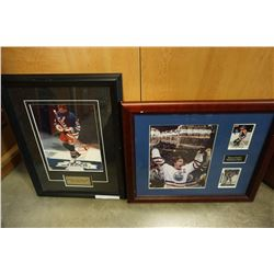 2 WAYNE GRETZKY FRAMED PHOTOS