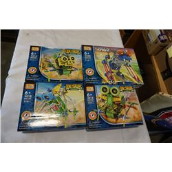 4 NEW LOZ BUILDING BLOCK TOYS