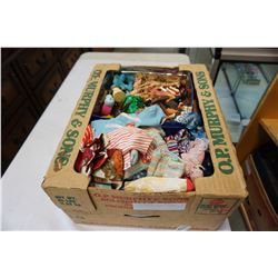 BOX OF BARBIE CLOTHES VINTAGE TOYS