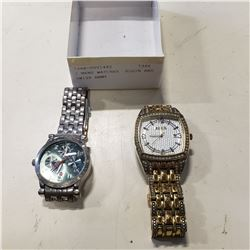 2 MENS WATCHES ELGIN AND SWISS ARMY
