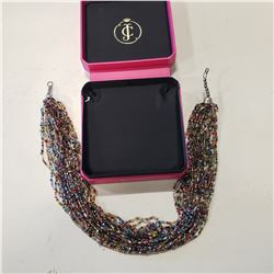 BOX OF BEADED JEWELLERY