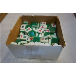 TRAY OF MAHJONG PIECES