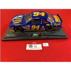 Bill Elliot Ravell Diecast Collectible Racing Car on Base