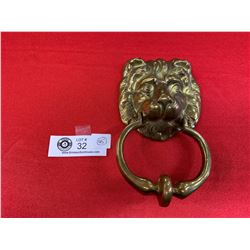 Good Quality Heave Brass Lionhead Door Knocker