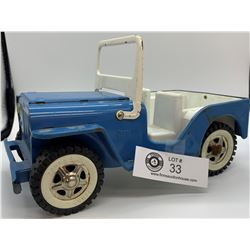 Vintage Jeep. Plastic and Metal Toy Car