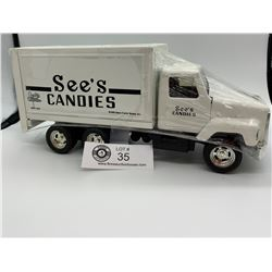 See's Candy Diecast Delivery Truck Still. In Great Shape!