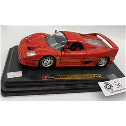 Collectible Diecast Ferrari FSO Hardtop 1995 Car on base