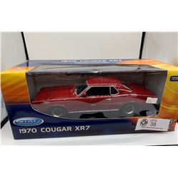 New in Box 1970 Cougar XR7 Diecast Car 1:18 Scale