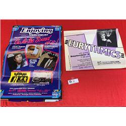 Lot of 2 Vintage Eurythmics Concert Posters