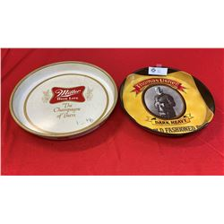 Lot of 2 Drink Trays. Miller's High Life and Thomas Asher Dark Heavy