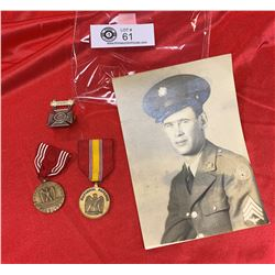Vintage Photo of A Soldier and Medals