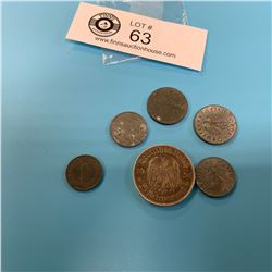 Small Lot of German Nazi Coins