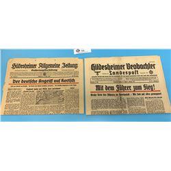 German Newspaper from 1942
