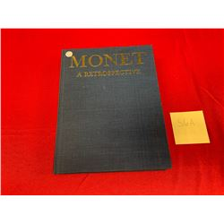 "Vintage Hard Cover 1986  Art Book "" Monet A Retrospective"""
