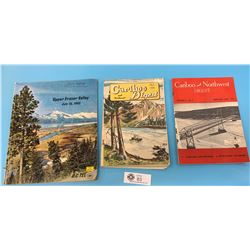Lot of 3 Vintage Magazines on Outdoors. Caribou Digest and Upper Fraser Valley. Lot of 3 Vintage Mag