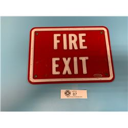 Plastic Fire Exit Sign