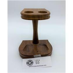 Vintage Walnut Pipe Stand/ Holder