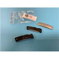 3 Vintage Buck/Gerber Folding Knives from 1990's