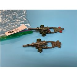 Lot of 2 Dinky Toy Howitzer Cannon