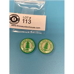 Lot of 2 The Green Forrest League Pinbacks