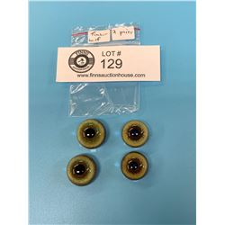 2 Pairs of High Quality German Made Wolf Glass Taxidermy Eyeballs